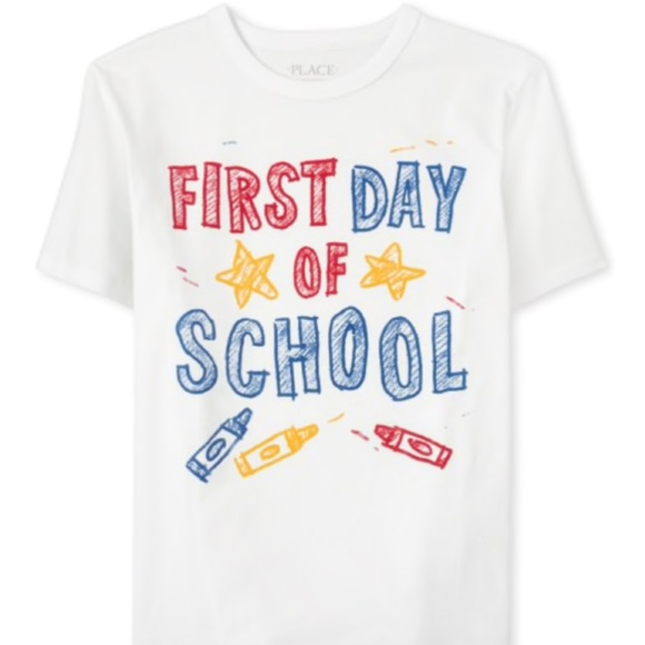 """The Children's Place t """"1st Day of School """" size 4"""